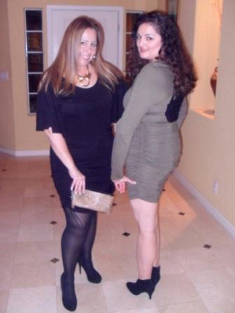 Lace Back Dress and Batwing Dress by Sofia