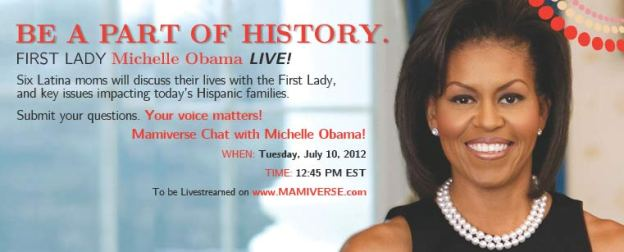 Mamiverse.com hosts First Lady Michelle Obama Chat with Latina Moms