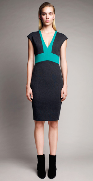 V-Neck Ponte Knit Dress -Narciso Rodriguez for Designation