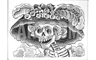 "Jose Guadalupe Posada's original 'La Calavera Catrina,' circa 1910. Jose Guadalupe Posada's original ""La Calavera Catrina,"" circa 1910. credit: Courtesy Mexican Museum Photo: Courtesy Mexican Museum / SF"