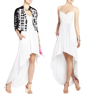 White Asymetrical Dress