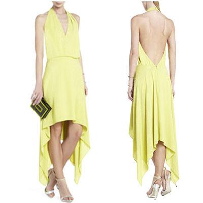 yellow asymetrical