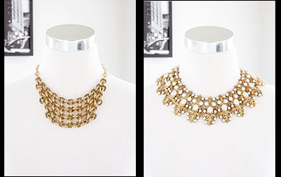 Allegra Signature & Cristina Linked Grid Necklaces