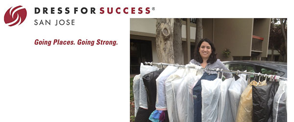 Dropping off the donations at the Dress For Success San Jose location.