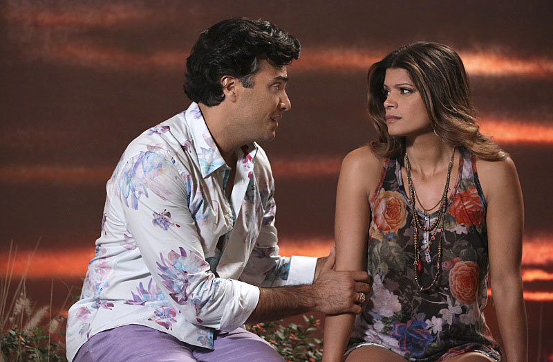 Andrea pictured here with Jaime Camil. Image courtesy of CW.