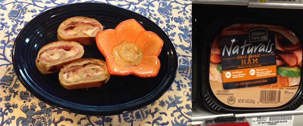 Ham & Cheese Rollup Recipe #HillshireNaturals #ad