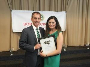 State Senator Bob Wieckowski with Linda Castillo, founder and executive director of ModernLatina.Com
