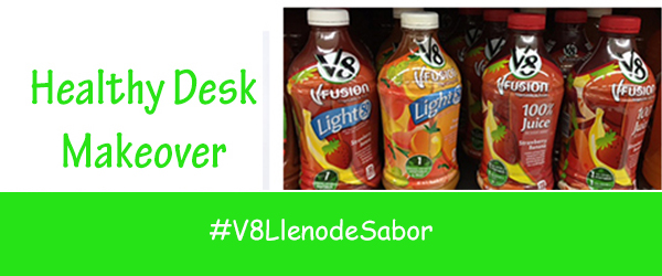 Healthy Desk Makeover #V8LlenodeSabor