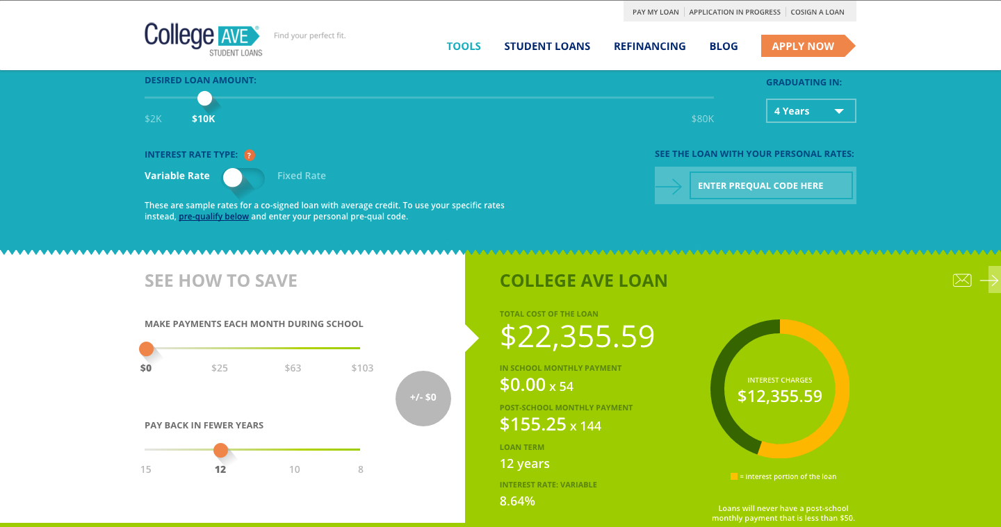 college ave student loans  ad