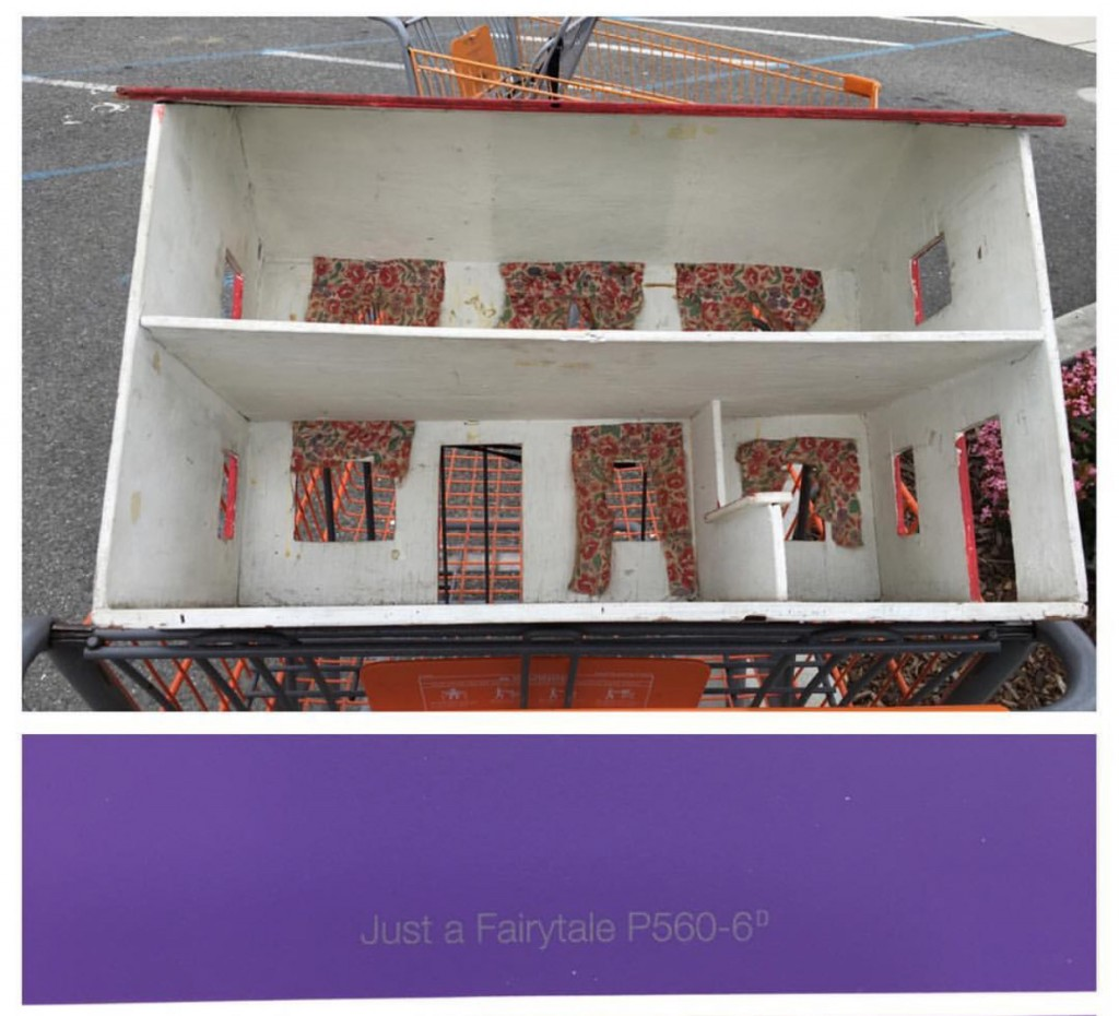 """Just a Fairytale"" seemed like the perfect purple for this special dollhouse."