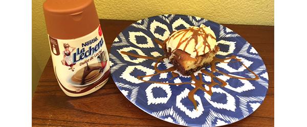 Dulce de Leche Brownie Cake #GustoNestle