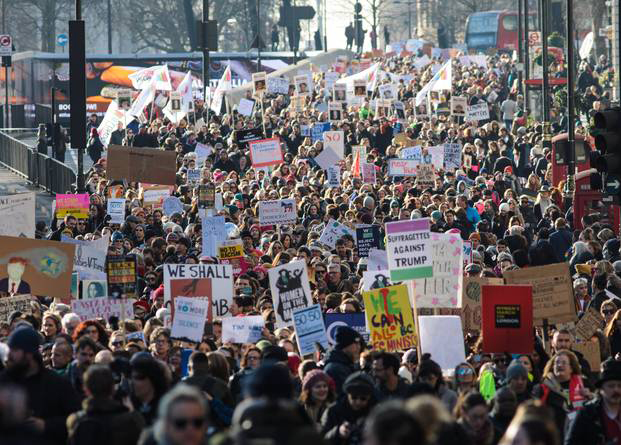A solidarity march in London.Source: Jack Taylor/Getty Images