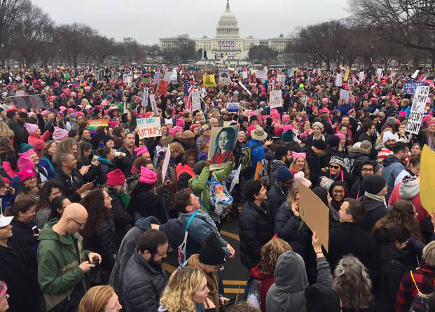 The Women's March on Washington on Saturday.Source: Andrew Caballero-Reynolds/Getty Images