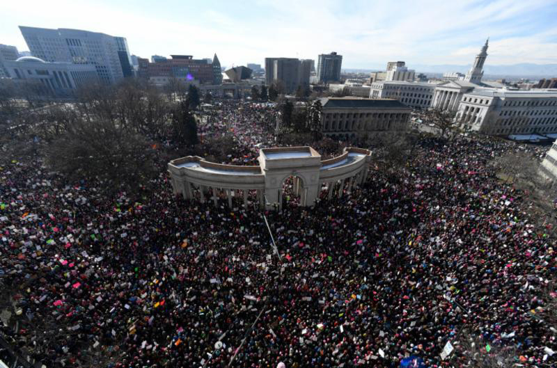 Let us continue the momentum of Women's March -  Denver - Jan. 21, 2017. Image courtesy of Juana Bordas.