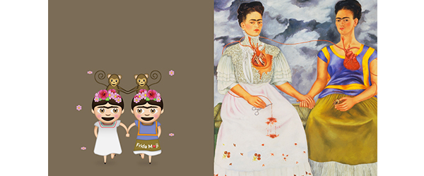 AdChoices ARTS & CULTURE 03/17/2017 02:16 pm ET Frida Kahlo's Many Self Portraits Are Now Emoji, Or Rather, FridaMoji