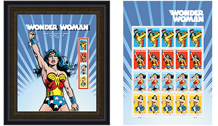 Images courtesy of www.USPS.com. Celebrate 75 years of an iconic Super Hero with special USPS stamps.
