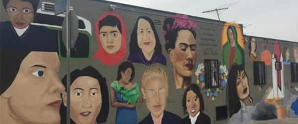 15-Year-Old's Mural Depicting Inspirational Women Unveiled in Boyle Heights