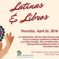 Latinas & Libros Event April 26, 2018
