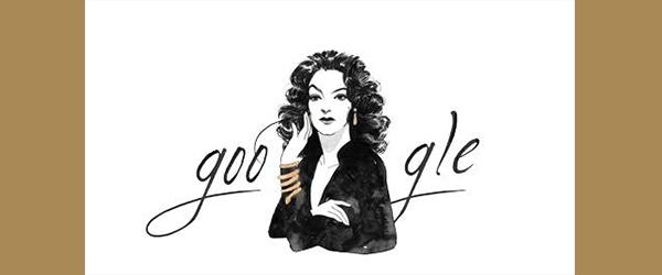 Google Doodle Celebrates Mexican Actress María Félix